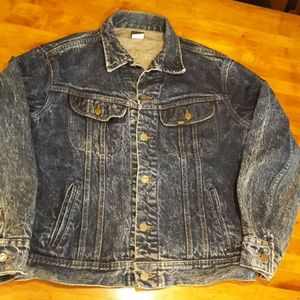 Vintage 80's acid washed jean jacket